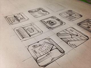 唐人设计ui培训图标草图设计